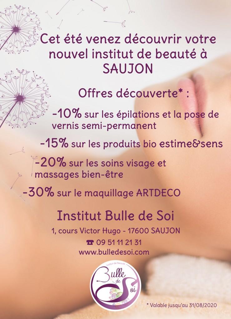 Cet été venez découvrir votre nouvel institut de beauté à Saujon !
