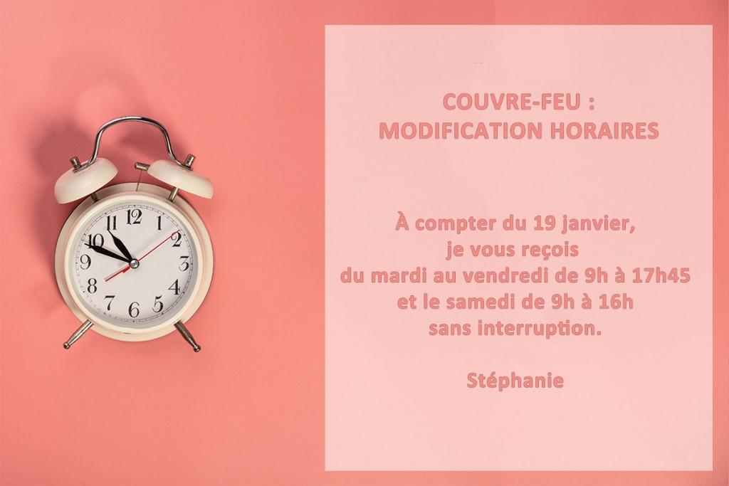 Couvre-feu : Modification Horaires